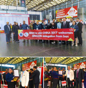 Iran sign maker's team attendance at SIGN CHINA 2017 (Shanghai)